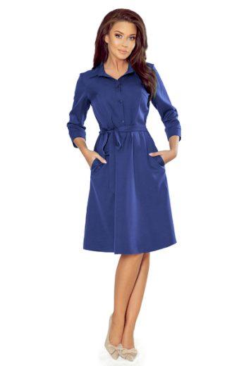 NUMOCO Dámské šaty  286-2 Sandy barva královská modrá, velikost S