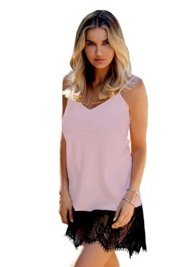 DKAREN Dámská košilka Chanelle old pink barva růžová, velikost XS