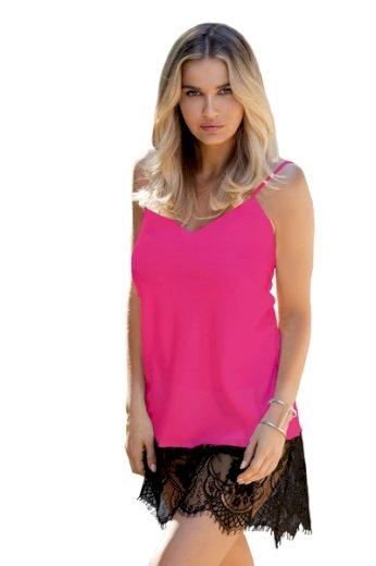 DKAREN Dámská košilka Chanelle pink barva růžová, velikost XS