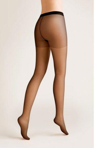 GABRIELLA Dámské punčocháče 713 Dita plus nero barva černá, velikost XL