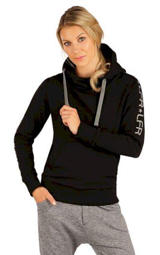 LITEX Mikina dámská s kapucí J1262 barva černá, velikost S