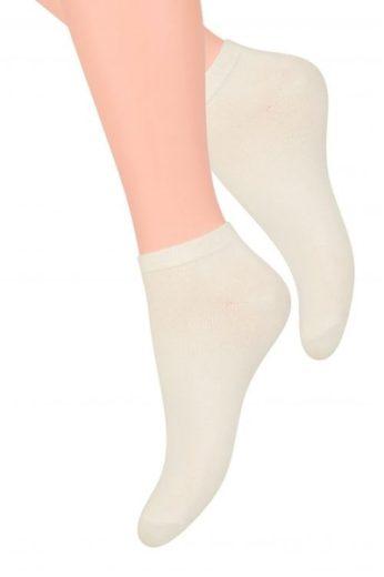 Steven Dámské ponožky 052 white barva bílá, velikost 35/37