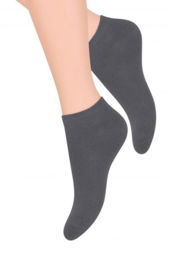 Steven Dámské ponožky 052 grey barva šedá, velikost 35/37
