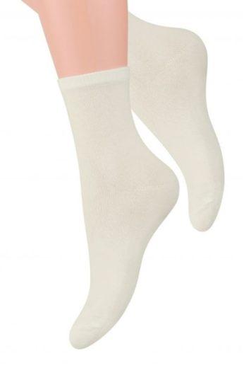 Steven Dámské ponožky 037 cream barva krémová, velikost 35/37