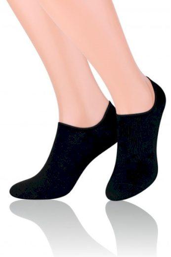 Steven Dámské ponožky Invisible 070 black barva černá, velikost 35/37