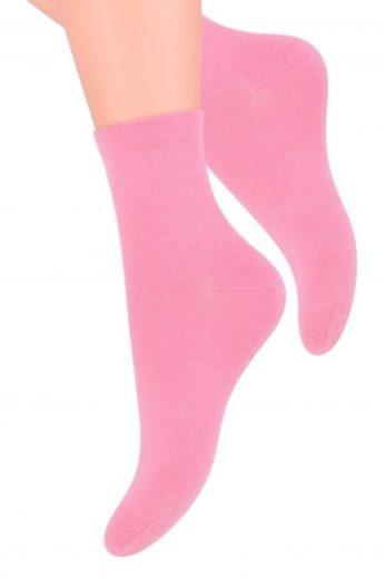 Steven Dámské ponožky 037 pink barva růžová, velikost 35/37