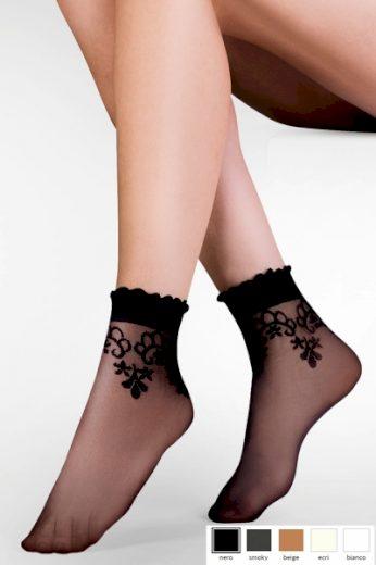 GABRIELLA Dámské ponožky 697 Bea beige barva béžová, velikost Univerzální