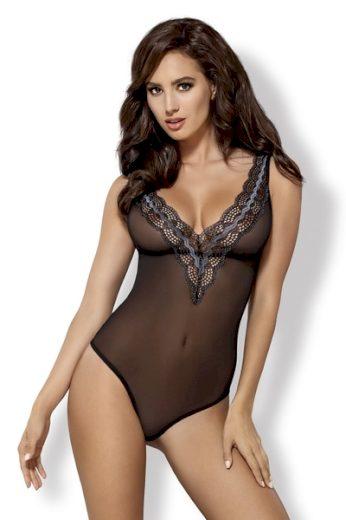 OBSESSIVE Erotické body 869-TED barva černá, velikost L/XL