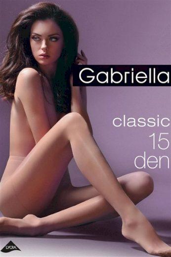 GABRIELLA Dámské punčocháče 104 classic nero barva černá, velikost S