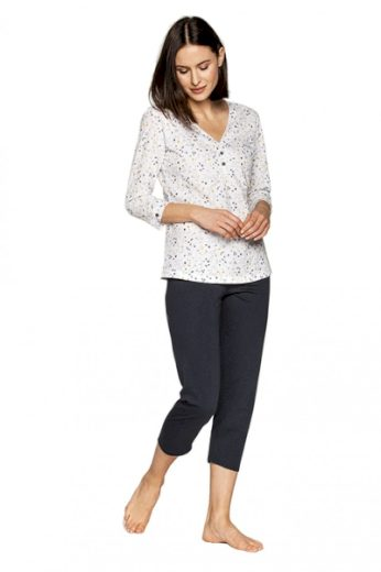 CANA Dámské pyžamo 555 barva bílá, velikost M