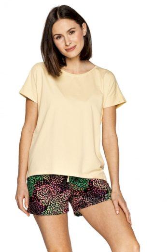 CANA Dámské pyžamo 564 barva žlutá, velikost S
