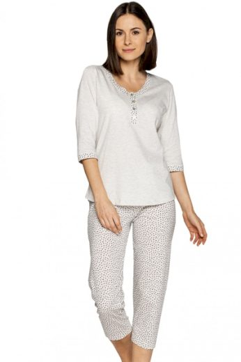 CANA Dámské pyžamo 552 barva béžová, velikost M