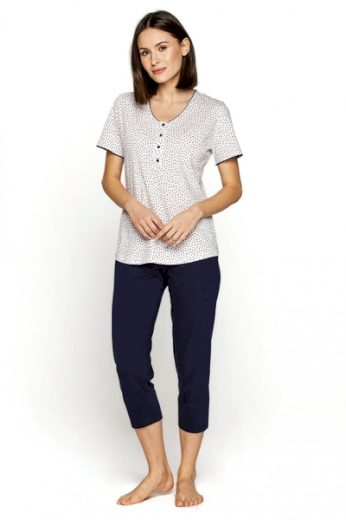 CANA Dámské pyžamo 548 plus barva bílá, velikost XXL