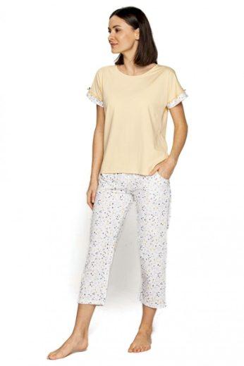 CANA Dámské pyžamo 558 barva žlutá, velikost S