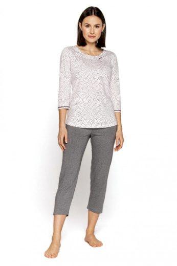 CANA Dámské pyžamo 565 plus barva bílá, velikost XXL