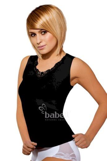 BABELL Dámská košilka Malika plus black barva černá, velikost XXL