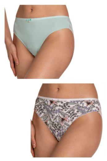 LAMA Dámské kalhotky 1393BI 2-pack plus barva vícebarevné, velikost XXL