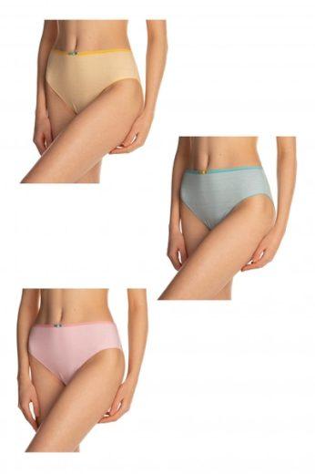 LAMA Dámské kalhotky BIB 12 3-pack plus barva vícebarevné, velikost XXL