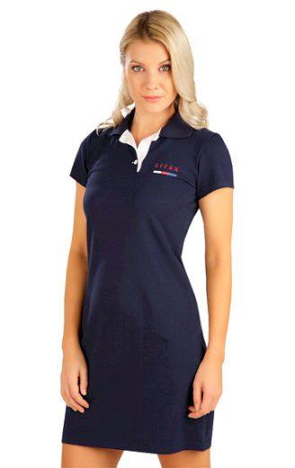 LITEX Šaty dámské s krátkým rukávem 5B302 barva tmavě modrá, velikost S