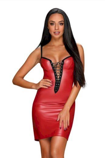 OBSESSIVE Erotické šaty Redella barva červená, velikost S/M