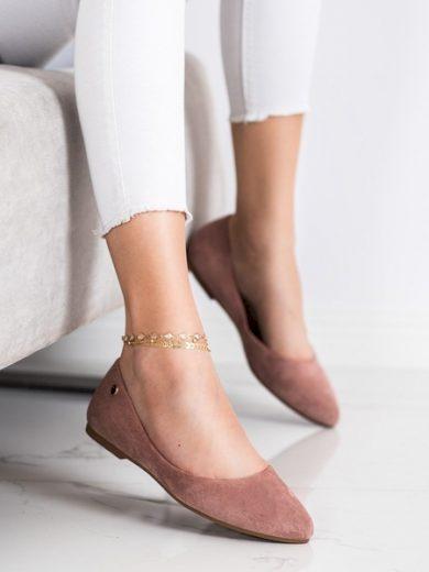 SERGIO LEONE Trendy růžové dámské  baleríny bez podpatku velikost 37