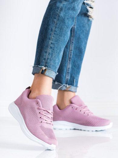 SUPER COOL Jedinečné růžové dámské  tenisky bez podpatku velikost 36
