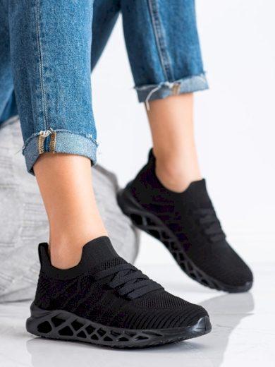 McKeylor Krásné černé dámské  tenisky bez podpatku velikost 36