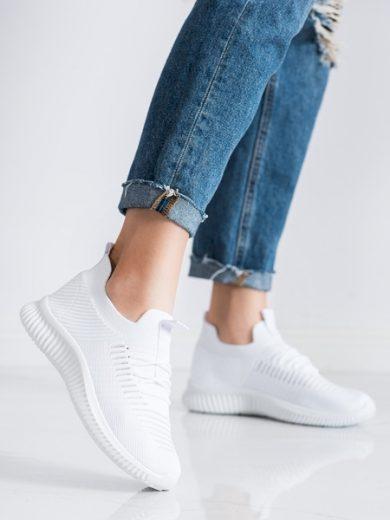 McKeylor Krásné  tenisky dámské bílé bez podpatku velikost 36