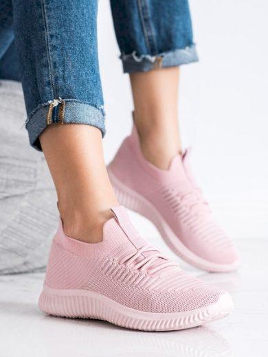 McKeylor Trendy růžové dámské  tenisky bez podpatku velikost 36