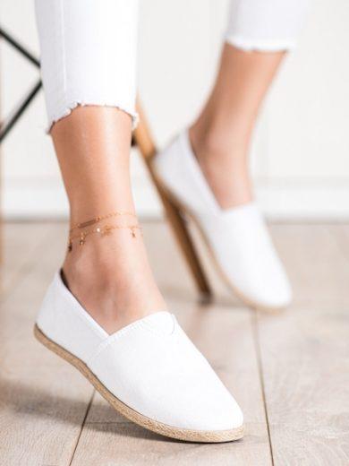McKeylor Designové bílé  tenisky dámské bez podpatku velikost 37