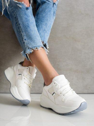 WEIDE Trendy dámské bílé  tenisky bez podpatku velikost 36