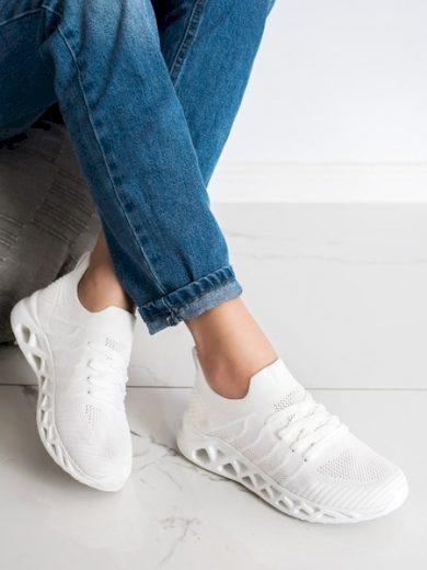McKeylor Trendy bílé  tenisky dámské bez podpatku velikost 36