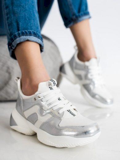WEIDE Krásné dámské  tenisky bílé bez podpatku velikost 36