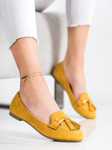 KAYLA Jedinečné dámské zlaté  mokasíny bez podpatku velikost 36