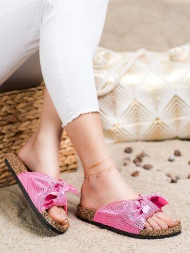 COMER Trendy  nazouváky dámské růžové bez podpatku velikost 36