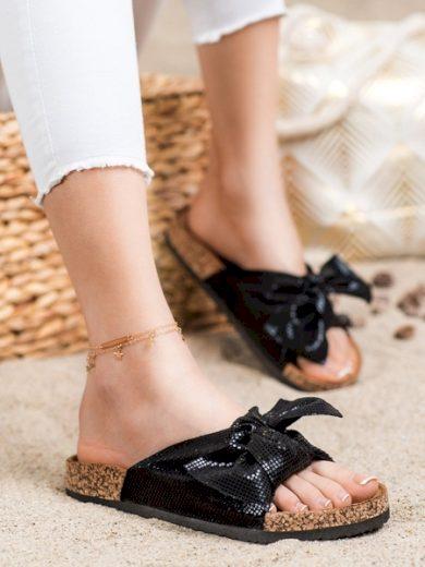 COMER Jedinečné  nazouváky dámské černé bez podpatku velikost 36