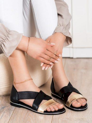 EVENTO Klasické černé  sandály dámské bez podpatku velikost 37