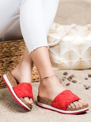 COMER Designové  nazouváky dámské červené bez podpatku velikost 36