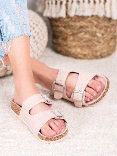 EVENTO Trendy dámské růžové  nazouváky bez podpatku velikost 36