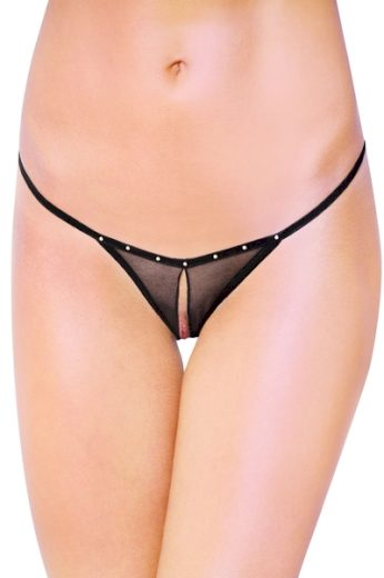 SOFTLINE COLLECTION Erotická tanga 2460 black barva černá, velikost S/L