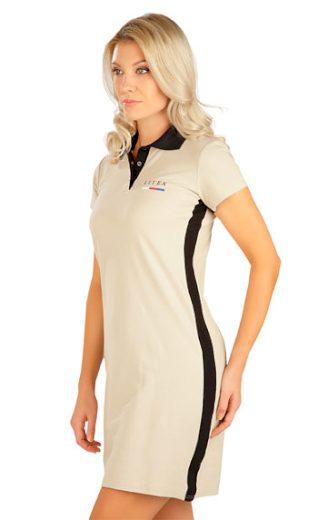 LITEX Šaty dámské s krátkým rukávem 5B305 barva béžová, velikost S