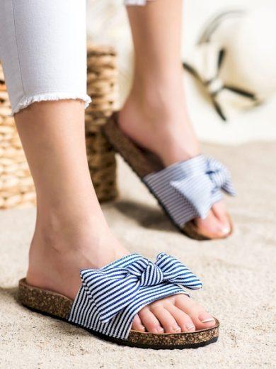 VINCEZA Pohodlné  nazouváky modré dámské bez podpatku velikost 36