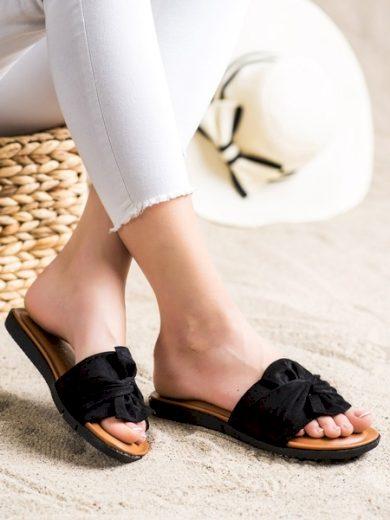 VINCEZA Moderní  nazouváky černé dámské bez podpatku velikost 36