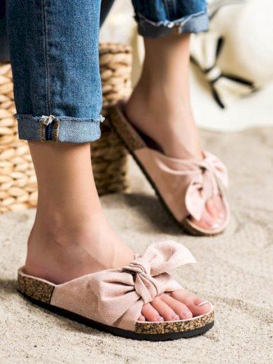 VINCEZA Pohodlné dámské růžové  nazouváky bez podpatku velikost 36
