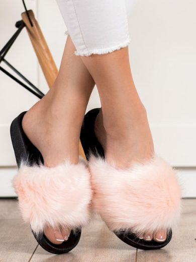 EVENTO Krásné dámské  nazouváky růžové bez podpatku velikost 36