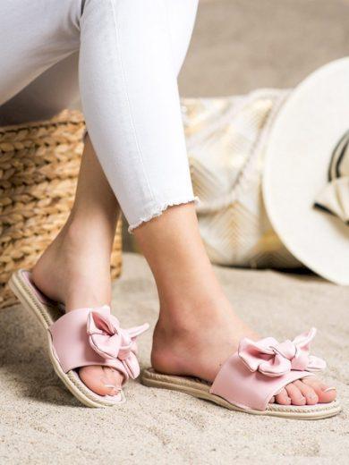 SMALL SWAN Exkluzívní  nazouváky dámské růžové bez podpatku velikost 36