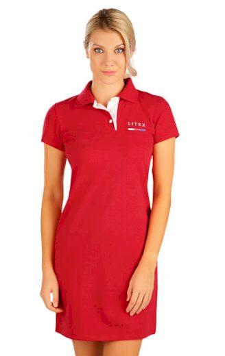 LITEX Šaty dámské s krátkým rukávem 5B300 barva červená, velikost XL