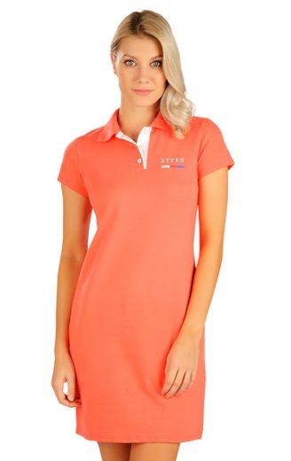 LITEX Šaty dámské s krátkým rukávem 5B303 barva oranžová, velikost M
