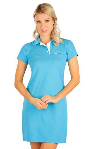 LITEX Šaty dámské s krátkým rukávem 5B304 barva tyrkysová, velikost S