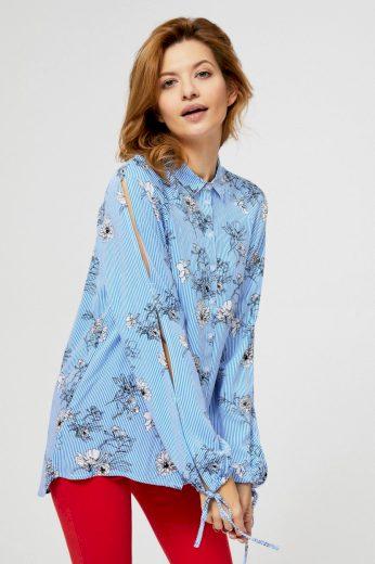 Moodo Košile dámská s dlouhým prostřiženým rukávem